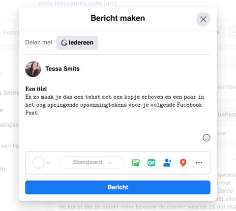 Hoe Maak Je Dikgedrukte Koppen In Je Facebook Bericht